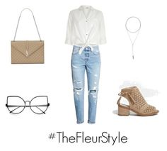 """""""Back to work"""" by thefleurstyle on Polyvore featuring moda, Yves Saint Laurent, River Island e W. Britt"""