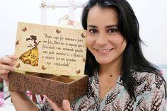 DYI | Faça Você Mesmo | Caixa com Stencil Poema Menina | Livia Fiorelli ...