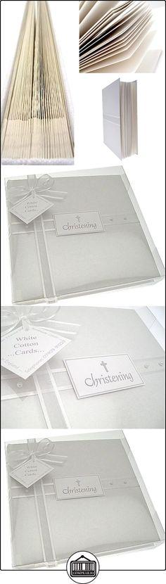White Cotton Cards t53m-Álbum de fotos, para bautizo, tamaño mediano), color gris  ✿ Regalos para recién nacidos - Bebes ✿
