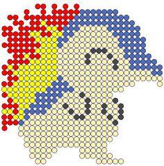 Cyndaquil Pokemon Perler Bead Pattern
