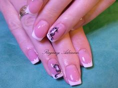 French nails with painted cats French Nails, Cats, Painting, Gatos, French Tips, Painting Art, Paintings, Paint, Draw