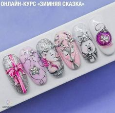 Nails Design Winter Nailart Ideas For 2019 – Beauty ideas Nail Design Spring, Winter Nail Designs, Christmas Nail Designs, Christmas Nail Art, Winter Christmas, Xmas Nails, Holiday Nails, Nail Art Designs, Nails Design
