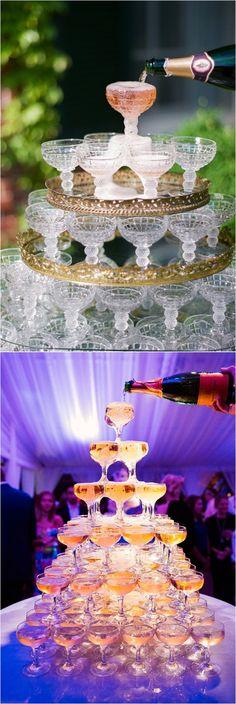La fontaine à Champagne -Champagne tower