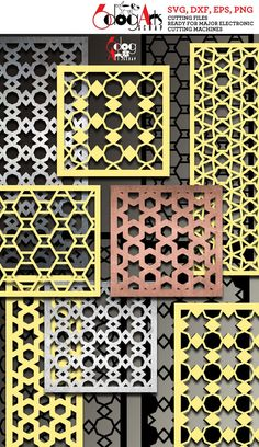 This 29 Geometric Pattern Panel Templates Digital Stencils Cut Svg is just one of the custom, handmade pieces you'll find in our craft supplies & tools shops. Room Divider Screen, Room Screen, Room Dividers, Cnc Plasma Cutter, Plasma Cutting, Electronic Scrap, Stencils, Laser Cut Screens, Metal Screen