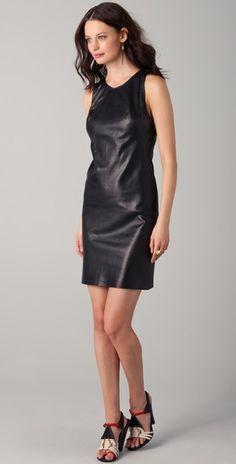 Kelly Bergin Leather Shift Dress