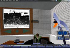 Campaign Literature Archive Display, UCLA Library, Cybrary City - Second Life 2007