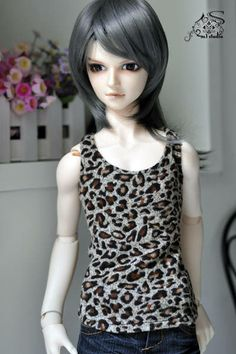1/4 1/3 and uncle leopard frock vest - Taobao
