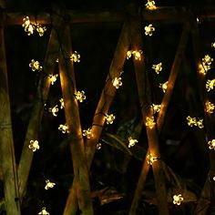 Solar Christmas String Lights Peach Blossom Decorative 21ft 50 LED Fairy Blossom String Lights Decorative Lighting for Home Garden Wedding Xmas Tree Party and Holiday Decorations