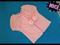Knitting For Kids, Baby Knitting, Cute Crochet, Crochet Baby, Scarf Vest, Bikini Modells, Baby Vest, Fashion Tag, Crochet Videos