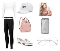 """""""SLAYIN' IT"""" by jorjarestall14 ❤ liked on Polyvore featuring Boohoo, adidas, Converse, SO, OtterBox and Chloé"""