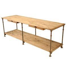 Original Antique Italian Industrial Bakers Work Table or Island http://www.1stdibs.com/furniture/tables/industrial-work-tables/