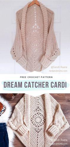 Crochet Cardigan Pattern, Crochet Shawl, Crochet Shrugs, Free Crochet Poncho Patterns, Diy Crochet Sweater, Crochet Waistcoat, Crochet Vests, Crochet Dresses, Cute Crochet