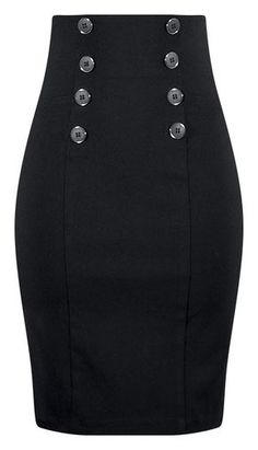 High Waisted Pin Me Up Pencil Skirt