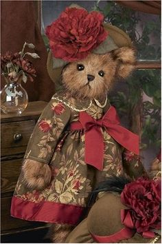 teddy bears bearington stuffed animals | ... Bearington Bear Victorian Dressed Teddy Bear by Bearington Collection