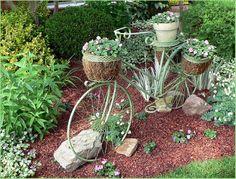 bicycle planter - Simcoe, Ontario