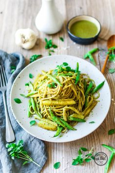 Spaghetti Liguria mit selbstgemachtem Pesto