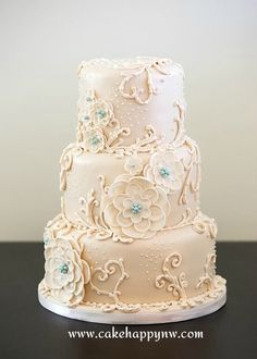 """Cake made for a """"White Wedding!"""""""