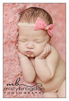 Peach Lace Bow Headband, so cute and sweet