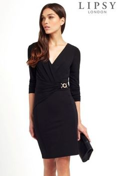 Buy Lipsy Long Sleeve Chain Detail Dress from the Next UK online shop