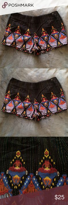 HOST PICK  High Waisted Tribal Print Shorts Good condition. 100% cotton. This print is no longer sold in stores. Perfect for the summer. Obey Shorts