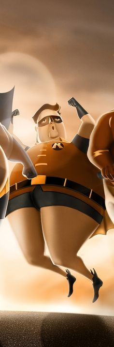 Fat Heroes by Carlos Dattoli