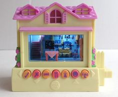 Pixel Chix Yellow Pink Roof House Cottage Electronic Interactive Game Playset