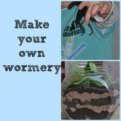 Installer un terrarium vertical dans une bouteille plastique (couches alternées de graviers, sable, terreau, terre recouvertes de feuilles mortes pour observer les galeries des vers de terre.