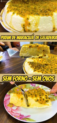Pudim de Maracujá Que Não Vai ao Forno e que não leva ovos, muito fácil de fazer! #receita #receitas #pudim #maracuja #pudimsemforno #sobremesa #doce #comida #food #manualdacozinha #aguanaboca #alexgranig