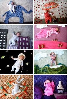When my baby dreams by Adele Enersen. Saw this woman's photos on The Today Show.  Just a Mom who is extremely creative. Love this! Saw this a long time ago. So sweet.