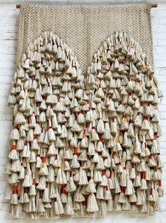 Sheila Hicks: Double Prayer Rug, Silk, linen, cotton and gold thread, 203 1/5 × 154 2/5 cm, 1970.