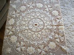 Antique maltese lace parasol cover 1800s by TextileArtLace on Etsy, $395.00