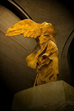 Winged Victory of Samothrace. Took my breath away.  My favorite sculpture of all time