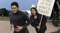 Paul Ryan Grudgingly Impressed By Angry Protester Who's Matched His Running Pace For 9 Miles