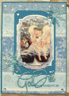 God Jul 2013 Christmas card Angel and rabbits