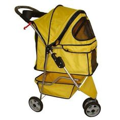 BestPet Classic Fashion Yellow 3 Wheels Pet Dog Cat Stroller W/raincover for sale online Cat Stroller, Indestructable Dog Bed, Large Dog Crate, Dog Shock Collar, Dog Car Seats, Dog Shower, Dog Shedding, Dog Diapers, Dog Carrier