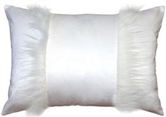 This pure white inch rectangular Chino Microsuede Throw Pillow features a beautiful white faux fur accent on the front. White Throws, White Throw Pillows, Accent Pillows, Decorative Throw Pillows, Bed Pillows, Pure White, Faux Fur, Pure Products, Beautiful