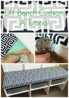 DIY Custom Bench Cushion for Hearth. Would be so much easier to make ...