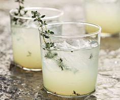 Limoncello's syrupy flavor plays perfectly off of a clear liquor like gin, while grilled sprigs of thyme add an earthy element to an otherwise sweet drink. Recipe: Fine Cooking