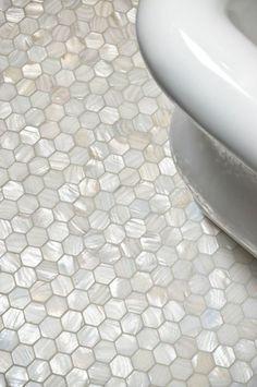 carrelage hexagonal, petits carreaux de salle de bain