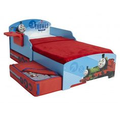 Thomas The Tank Engine Storytime Toddler Bed With Storage   Kids Licensed  Furniture Milan Direct