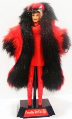 Disney Collector, The Collector, Greatest Villains, Cruella Deville, Barbie Collection, Disney Villains, Barbie Dolls, Fur Coat, Fashion