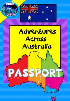 Free: Australian Geography: Australian States and Territories PASSPORT Geography For Kids, Teaching Geography, World Geography, Primary School Teacher, Primary Teaching, Elementary Teaching, School Resources, Teacher Resources, Primary Resources