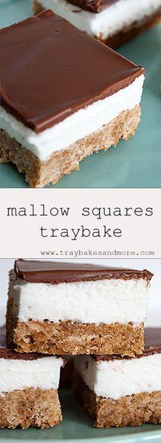 Tray Bake Recipes, Baking Recipes, Cake Recipes, Fudge Recipes, Baking Ideas, Recipes With Marshmallows, Homemade Marshmallows, Winter Desserts, Just Desserts