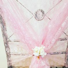 These pink lace hoods are just so pretty, they give an amazing finish, I just added a white very small arrangement to finish the chair decor, perfect wedding chair decor! Wedding Chair Decorations, Wedding Chairs, Pew Ends, Pink Lace, Perfect Wedding, Flower Arrangements, Arrow Necklace, Hoods, Wedding Flowers