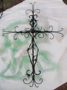 barbed wire cross