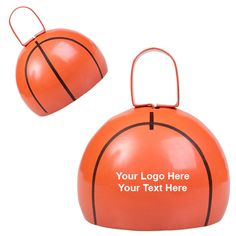 Promotional basketball cow bells - perfect giveaways to build team spirit. #basketball #cowbell #promotionalproduct #noisemakers