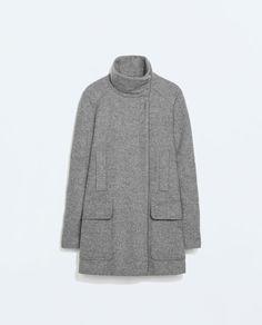 FUNNEL COAT from Zara