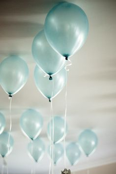 balloons floating over high... my life is rolling, rolling happy by