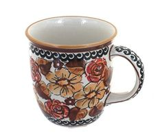 Polish Pottery Autumn Rose Coffee Mug >>> Visit the image link more details.(This is an Amazon affiliate link)