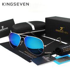 a97e3ff1cebaf KINGSEVEN Classic Fashion Polarized Sunglasses Men Women Colorful Reflective  Coating Lens Eyewear Accessories Sun Glasses